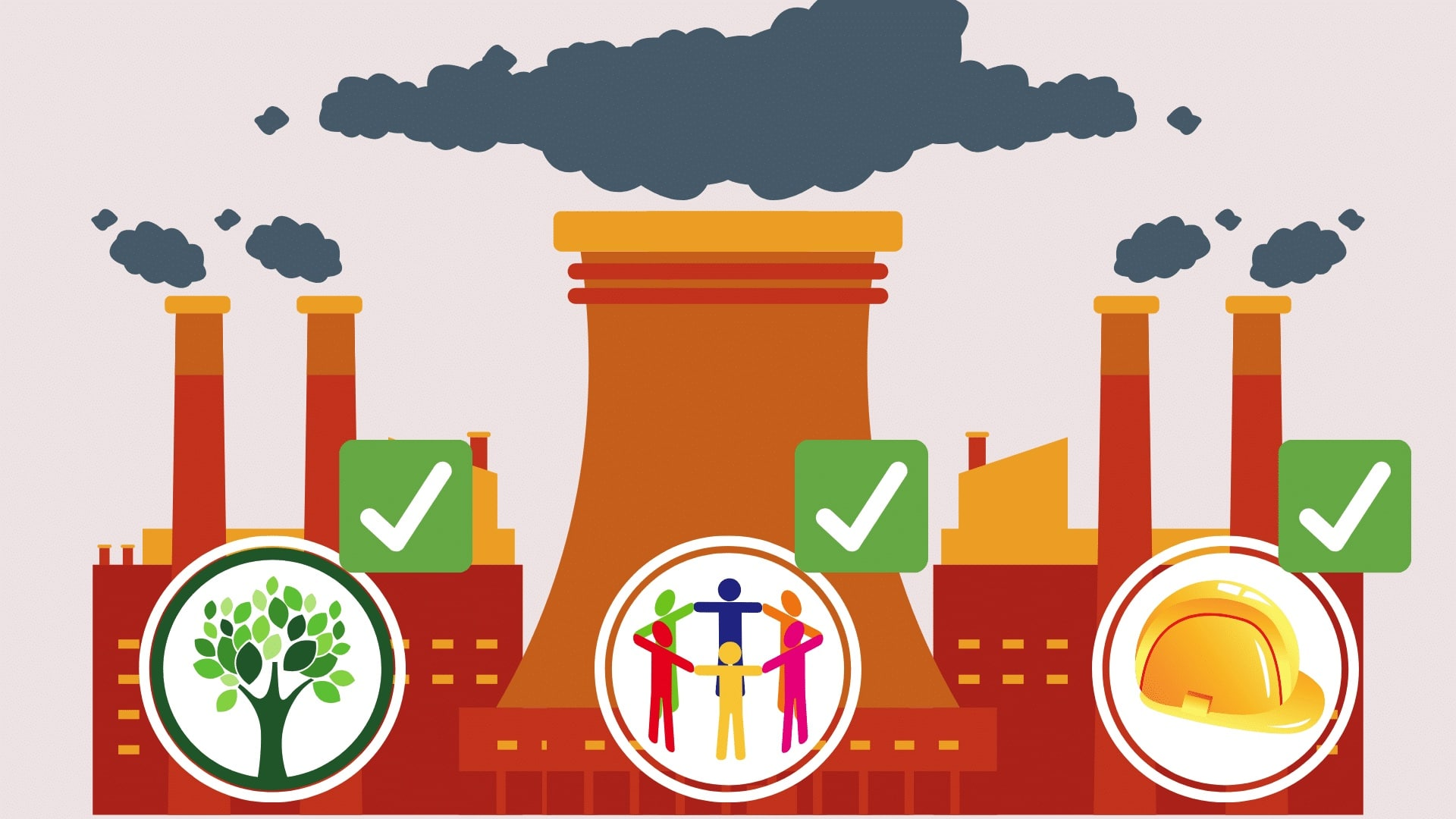 Factory with different supply chain audit certifications in front